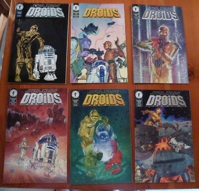Dark Horse Comics Star Wars Droids Complete Set Volume 1 Issues 1 to 6
