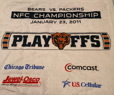 Chicago Bears Vs Green Bay Packers 2011 NFC Championship Rally Towel-Rare-NFL