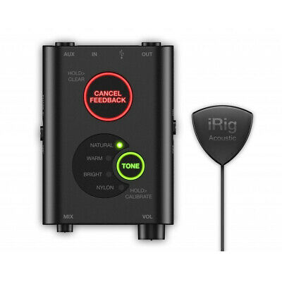 Ik Multimedia iRig Acoustic Stage Digital Mic System For Acoustic Guitar, New!