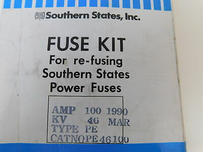 Southern States NSB PE46100 Fuse Accy PE 100A Standard Speed