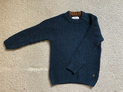 Zara Kids Boys Girls Cable Knitted Jumper. Petrol Blue / Navy. New No Tags Age 6