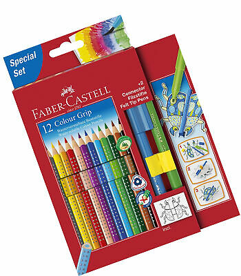 Faber-Castell 201396 ? 12 Coloured Pencils Pack of 12 including two Connector
