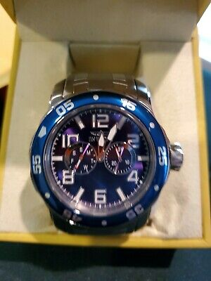 Invicta 17496 48mm Pro Diver Scuba Day Date Blue Dial Stainless Steel Mens Watch