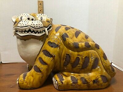 Gump's Japanese Tiger Ceramic Figure