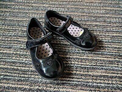 Marks And Spencer Black Patent Leather School Shoes Size Uk 11 Kids Narrow Fit