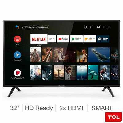 TCL 32 Inch HD Ready Smart Android TV With HDR Digital Tuner - 32ES568 - New UK