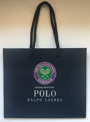 Ralph Lauren Polo X Wimbledon Official Embossed Luxury Gift Bag 24cm X 20cm