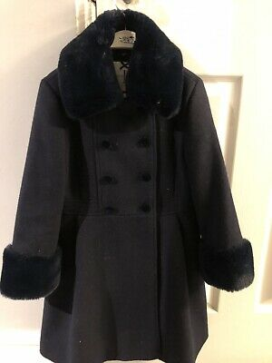 Jasper Conran Girls Coat Navy Age 8