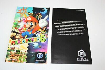 Notice pour MARIO PARTY 6 - GAME CUBE (PAL FRA) / TBE.