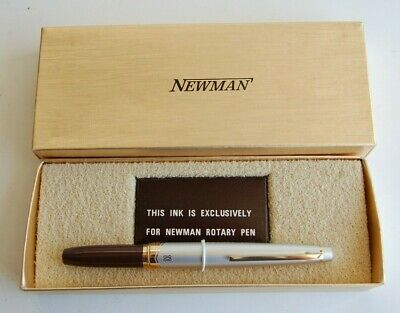 Vintage Pen Newman Rotarypen BROWN *NEW in Box -OLD STOCK* Made Japan Rotary
