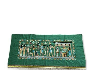 "Vintage Tapestry Wall Folk Art Egyptian Handmade Decor Textile Hanging 60""x27"""