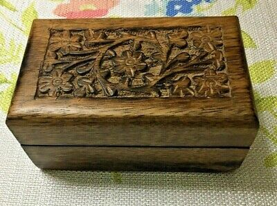 Carved Wood Small Box Made In India