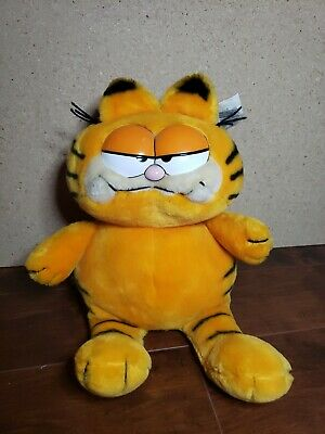 """Vintage Dakin Garfield the Cat 12"""" Large Plush with tags"""