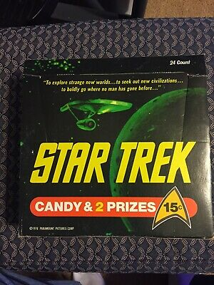 1976 Phoenix Candy Star Trek 15 Ct Counter Display Box + Set Of 8+1 Small Boxes