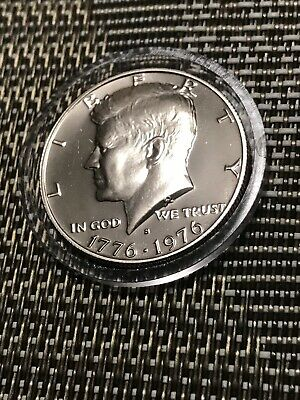 1776-1976 - S Kenndy Half Dollr Bicentennial Flashy Cameoproof Uncirculated Coin