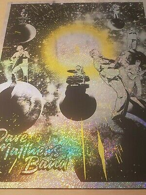 Dave Matthews Band Joshua Budich Print Poster Static Foil Signed Numbered