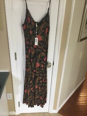 NWT Spell And The Gypsy Collective Etienne Strappy Dress- Noir. Size M