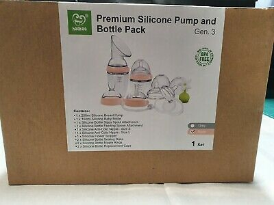 Haakaa silicone Pump & Bottle Pack nude/pink