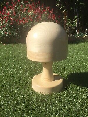 MILLINERY WOODEN HAT BLOCK. Round on Loose Stand, SHOP DISPLAY. Made To Order