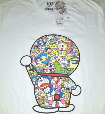 Takashi Murakami Doraemon Uniqlo Xl T-Shirt Tee Anime Pop Art 17 Print Hypebeast