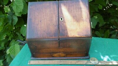 Antique writing box desk top