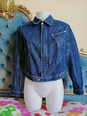 LEVI'S 70101 ENGINEERED Jeans GIRLS Giacca VINTAGE Jacket Denim SMALL