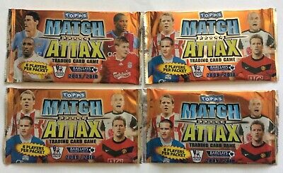 Topps Match Attax Cards 2009/2010 X 4 Unopened Packets