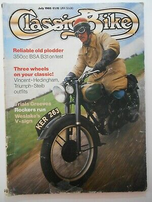 Vintage July 1985 CLASSIC BIKE Magazine 350cc BSA B31 On Test Motorcycle