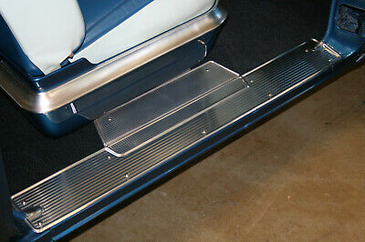1955, 1956, Chrysler Desoto Imperial DOOR SILL PLATES - DIE Stamped -NOS quality
