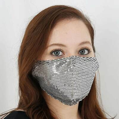 5 Pack Sequined Fashion Face Mask Washable Reusable Face Mask With Ear Loops
