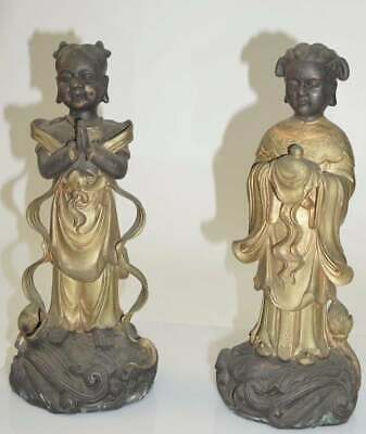 Pair Of Chinese Figural Bronzes