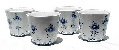 Set of 4 Royal Copenhagen Fluted Plain Lace Tea Cups