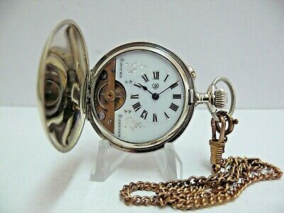 Antique 8 Days / Дневенъ Hebdomas Gents Full Hunter Pocket Watch, Working