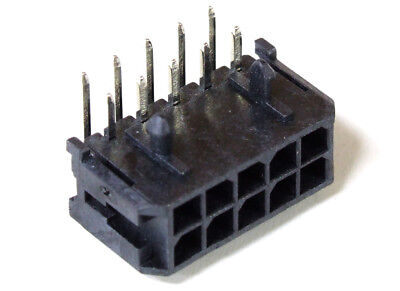 Molex 43045-1000 Micro-Fit 3.0™ 10-Pin 10-Way Male Header Connector 0 1/8in