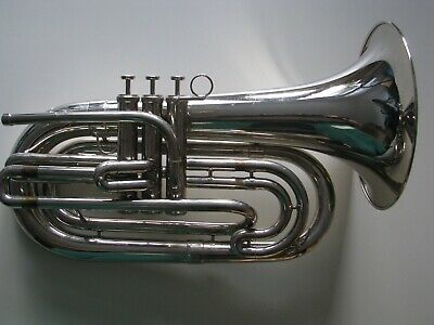 Basstrompete Weril vernickelt Marching Bariton  Marching Posaune