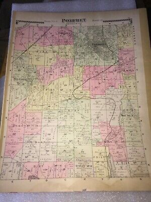 1881 Map / Town Of Pomfret Map.from The Historical Atlas Of Chautauqua County,Ny