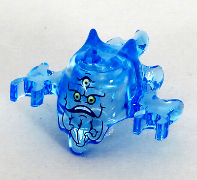 LEGO NEW GHOST BUSTERS TRANS-MEDIUM BLUE GHOST WITH 3 EYES PATTERN