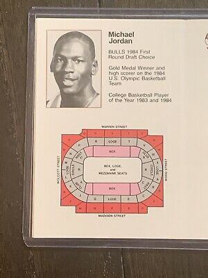 1984-85 Chicago Bulls Pocket Schedule Pre 1986 Fleer Michael Jordan Rookie 🔥