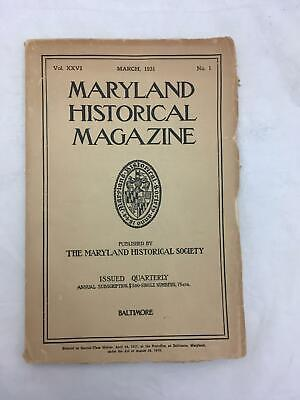 Maryland Historical Magazine MAR1931 TOBACCO TRADE Dr Charles Carroll ST MARY'S