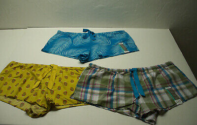 3 NEW Pcs. - Secret Treasures Pajama Lounge Shorts  NWT size XL (16-18)