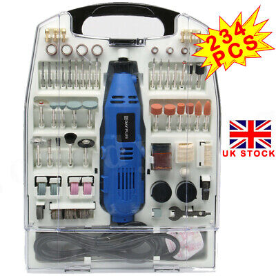 234Pc Rotary Multi Tool Set Dremel Compatible Accessories Mini Drill Hobby