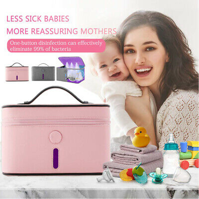 Portable Sterilizer Bag LED UV Disinfection Diaper Bag Bottle Underwear Cleaner