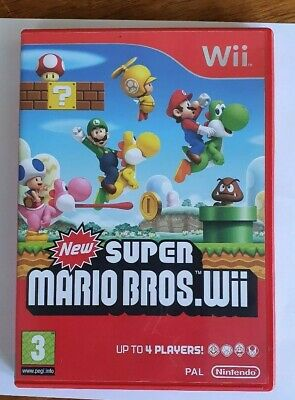 New Super Mario Bros. Wii With case and manual  Very good condition  Wii Game
