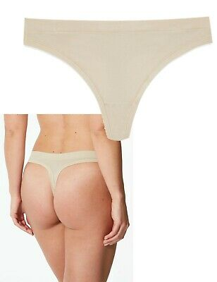Details about  /NEW EX M/&S Nude//Almond Flexifit Modal Rich Thong in Size 24 PACK OF 4