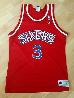 Authentic Allen Iverson 76ers Nylon  / Champion Trikot