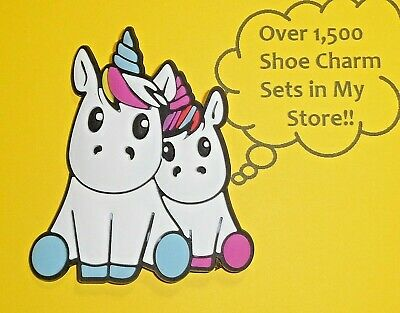 Large Unicorns Shoe Charms Shoe Buttons Plugs Decoration Cake Toppers  auction