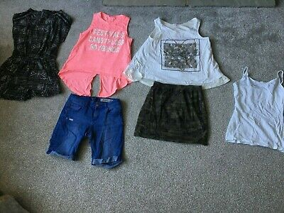 Girls New Look 915 Kylie Age 13 bundle Shorts, Playsuit Skirts Top 6 in all
