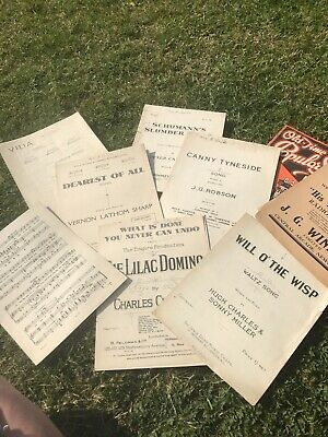 Vintage Sheet Music Paper, Decoupage, Craft, Die Cutting, Shabby Chic