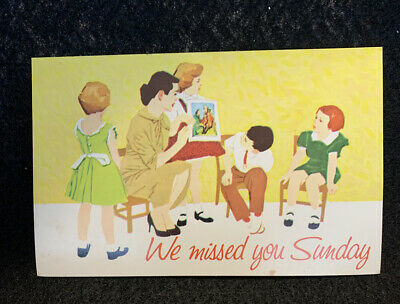 Vintage Postcard-A Special Invitation-We Missed You Sunday-Church/Sunday School