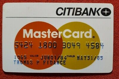 CITIBANK MasterCard credit card exp 1985♡Free Shipping♡cc985